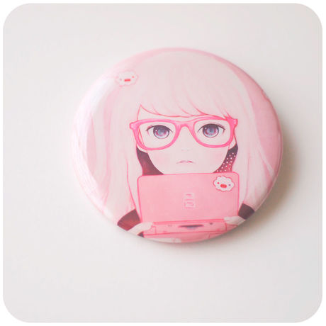 Gamegirl Girl 57mm 缶バッジ