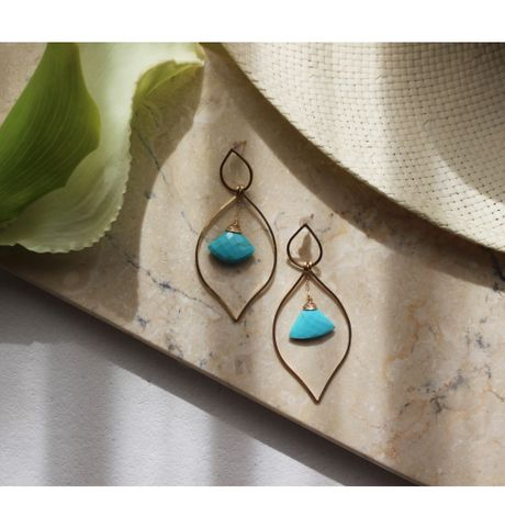 Ethnic Pierce Sleeping Beauty Turquoise