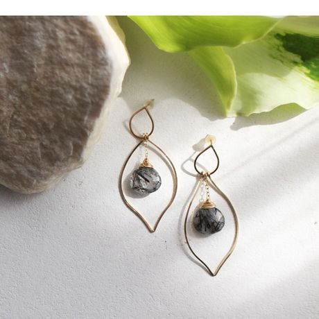 Ethnic Pierce Black Quartz