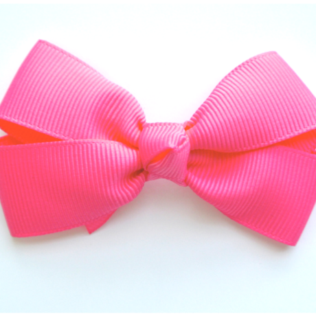 """3"""" Shocking pink hair bow"""