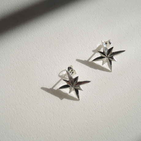 Octagonal stars earrings