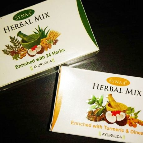 アーユルヴェーダ石鹸 SYNAA HERBAL MIX Enriched with Turmeric & Dinesa Oil(オレンジ)
