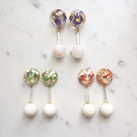 rindon kinpaku pierce/earring