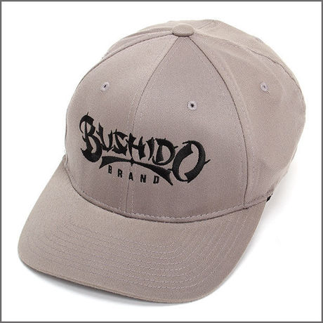 BUSHIDO BRAND FITED CAP TYPE1 GRAY