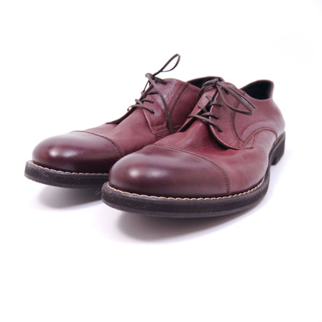 Straight tip derby shoes 65132 #WINE