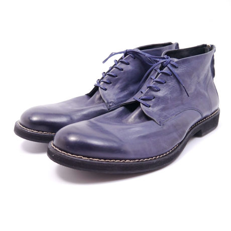 Back zip chukka boots 65134 #NAVY