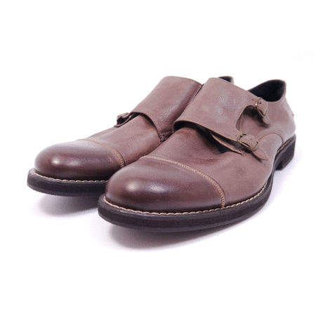 Double monk strap shoes 65131 #OAK