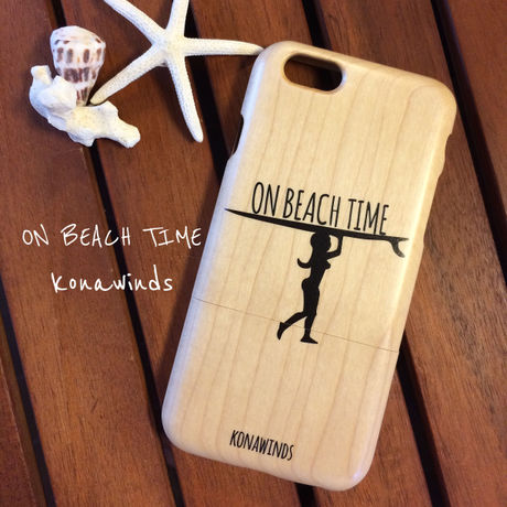 iPhone6/6s wood 「ON BEACH TIME」