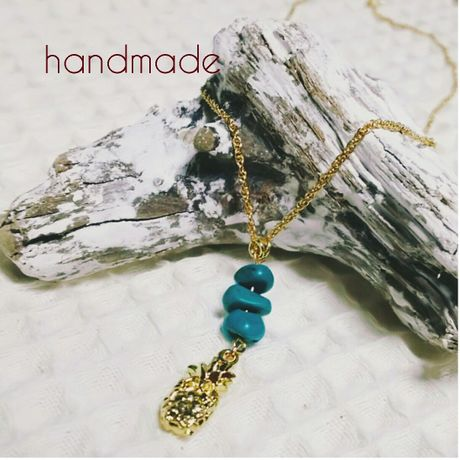 pineapple & Turquoise necklace