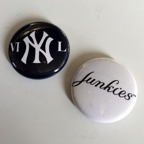 """A.W. Harvest ‎– """" NY series """" Button Badges Pair set"""