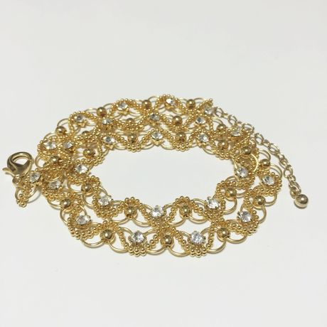 Gold chain 2way Lace Necklace