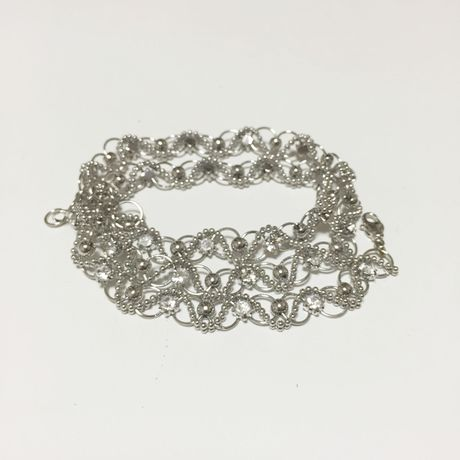 Silver chain 2way Lace Necklace