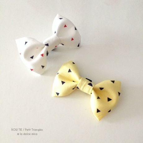 BOW TIE / Petit Triangles(Yellow)