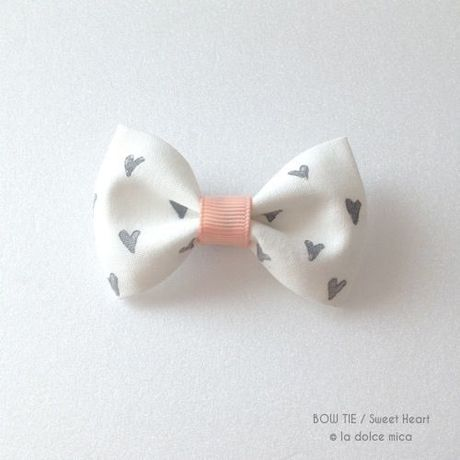 BOW TIE / Sweet Heart(White & Pink)