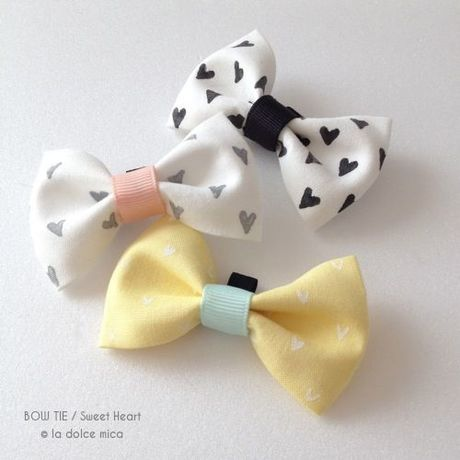BOW TIE / Sweet Heart(Yellow & Mint)