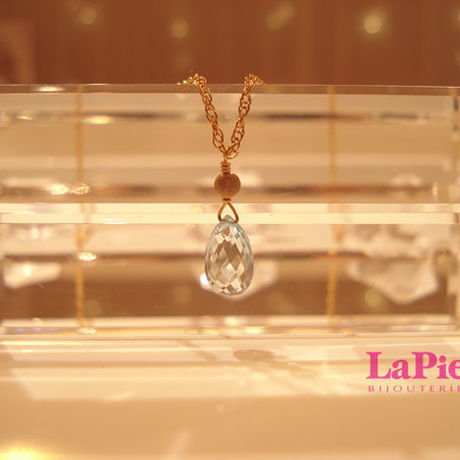-LaPierre- *SkyBlueTOPAZ*drop-necklace(トパーズネックレス)