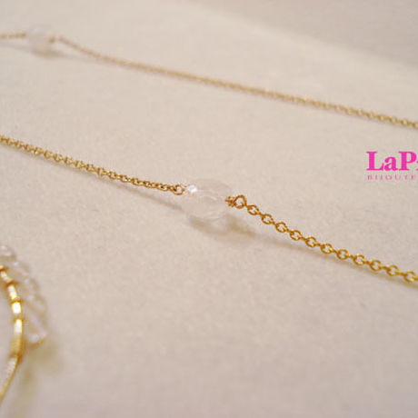 -LaPierre- *MOON STONE*long-necklace(ムーンストーンネックレス)