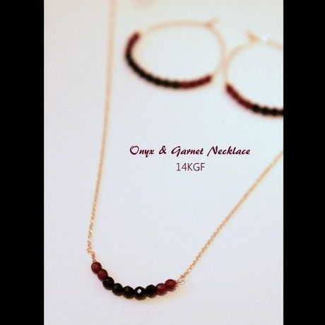 Onyx & Garnet Necklace