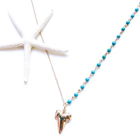 shark tooth turquoise× necklace