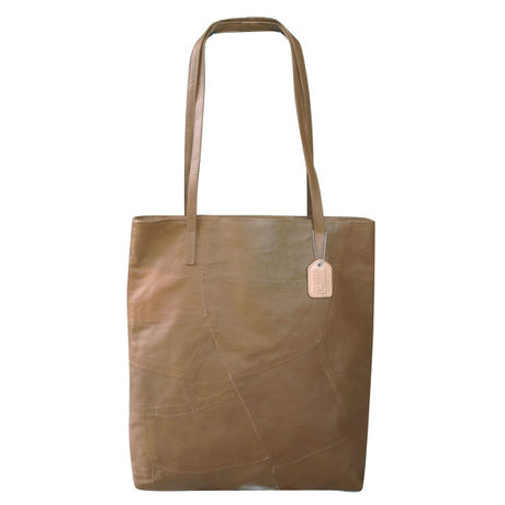 PATCH CASUAL TOTE   (PT03)  BROWN