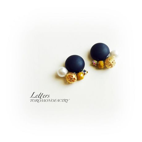 [1点物]Navy antique button