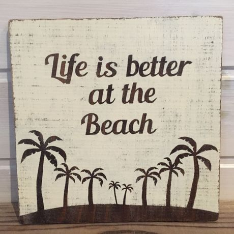 wood board A ~Life is better at the beach~