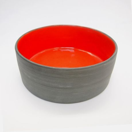 Ware of the Dog  Dog Bowl Coral Size L