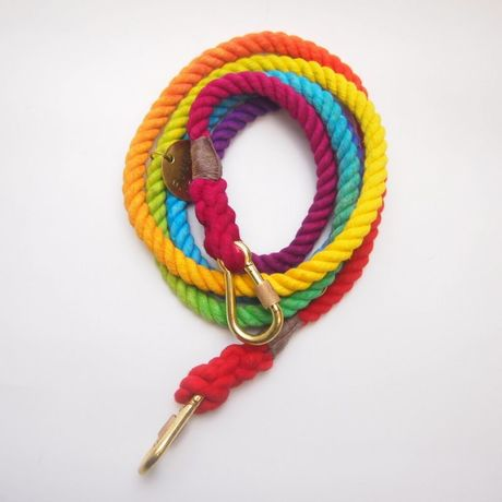 Found My Animal PRISMATIC ROPE DOG LEASH ADJUSTABLE new model