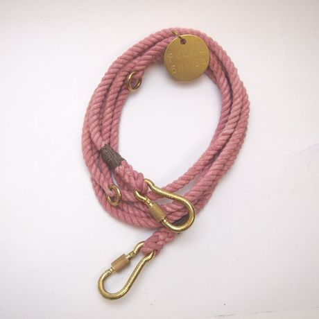 Found My Animal BLUSH ROPE DOG LEASH ADJUSTABLE