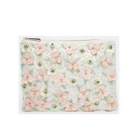 ASOS Floral Embellished Meadow Clutch