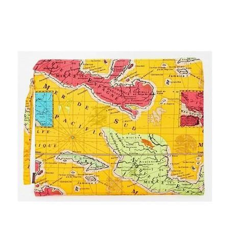 Echo Pouch With Map of Mexico Clutch Bag