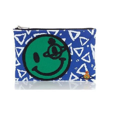 Vivienne Westwood Africa multi coloured smiley clutch