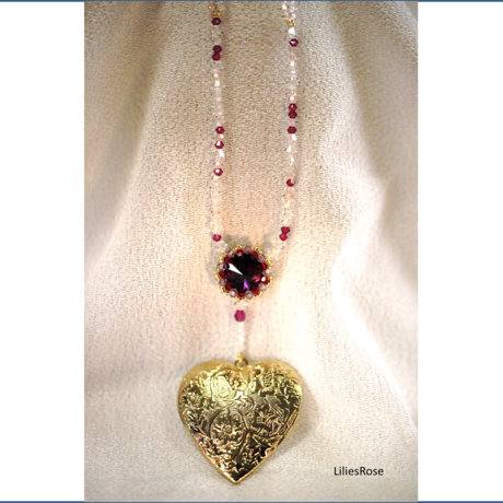 Rose-window and heart Locket    ~love color~