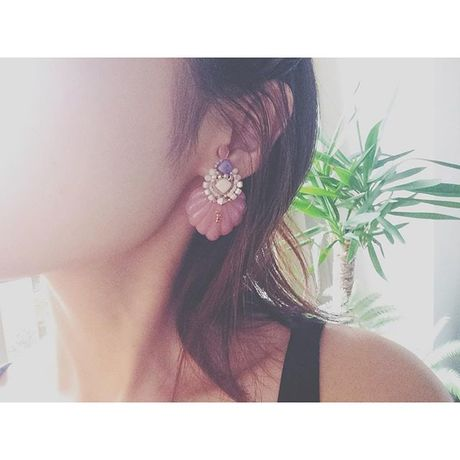 【NEW】Acryl leaf pierce・clip