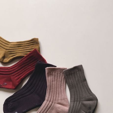 rib socks(5color pack)
