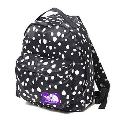 THE NOTHE FACE  PARPLE LABEL Dalmatian Print Day Pack S