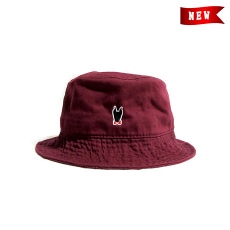 Logo Bucket Hat / Burgundy