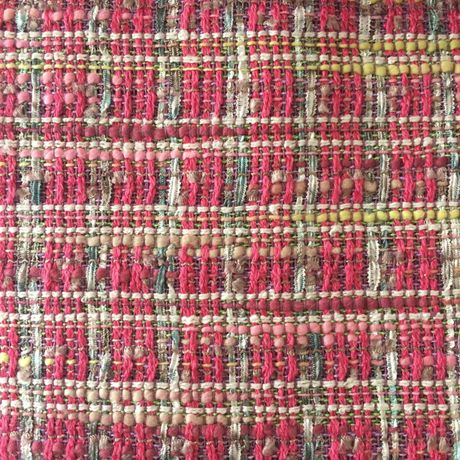 LINTON TWEED/pink yellow and white fabric