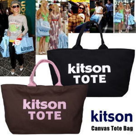 【kitson】キットソン キャンバス トートバッグ KITSON Canvas Tote Bag i色 ブラック kitson04