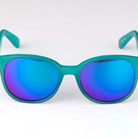 """Livly """"Roc2"""" Rounded Green Mirror Sunglass"""