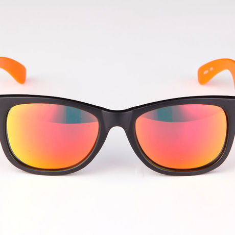 """Livly """"Funk2"""" Mat Black / Neon Orange / Orange Mirror Sunglass"""
