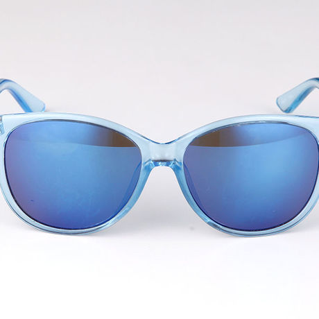 """Livly """"Algo"""" Blue Clear Frame Mirror Sunglass"""