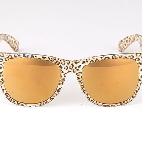 """Livly """"Funk2"""" Leopard Gold Mirror Sunglass"""