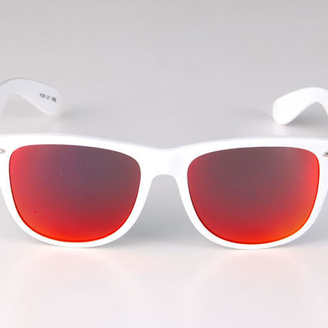 """Livly """"Funk"""" White Frame / Red Mirror Sunglass"""