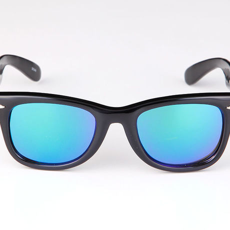 """Livly """"Lil' Funk"""" Black / Blue Mirror Sunglass"""