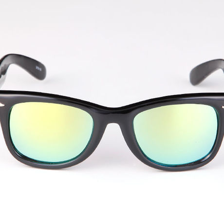 """Livly """"Lil' Funk"""" Black / Green Mirror Sunglass"""