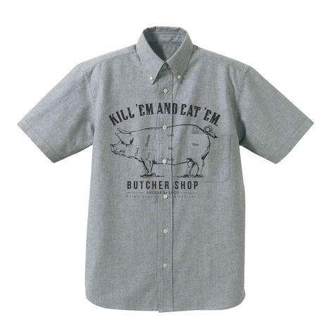 Kill 'Em Eat 'Em Oxford SS shirts / ARUKAS by LOCO