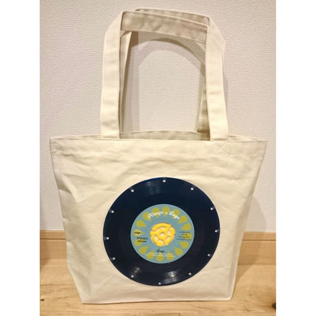 bagu canvas tote S  Natural Blue Vinyl