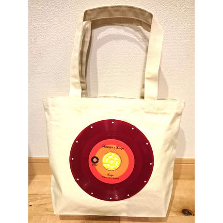 bagu canvas tote S  Natural Red Vinyl