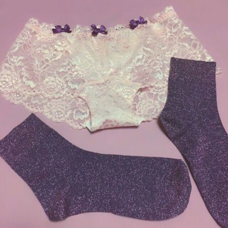 Loline♡Lace Panty(pink×purple)